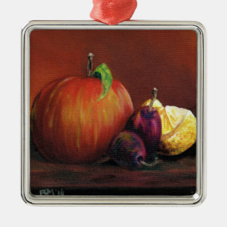 Apple, Damson and Lemon Metal Ornament