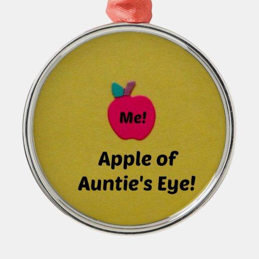 Apple de Eye de tía Ornamente De Reyes