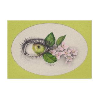 Apple de mi arte surrealista del ojo envolvió la lona estirada galerías