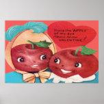 Apple de mi tarjeta del día de San Valentín del co Poster