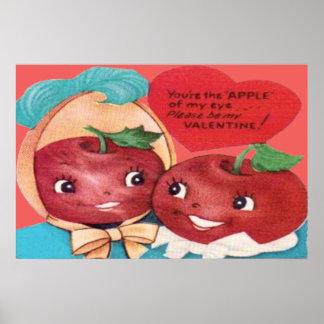 Apple de mi tarjeta del día de San Valentín del co Póster