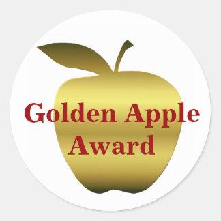 Apple de oro del profesor concede a los pegatinas etiquetas redondas