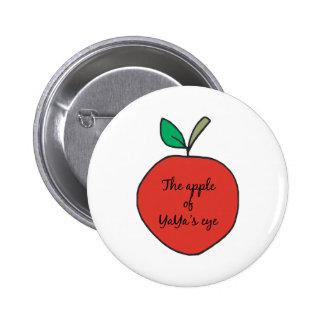Apple de YaYa' ojo de s Pin Redondo De 2 Pulgadas