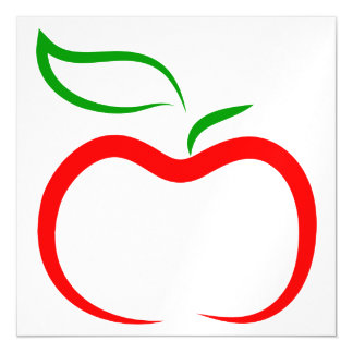Apple decorativo invitaciones magnéticas