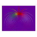 Apple del átomo tarjetas postales