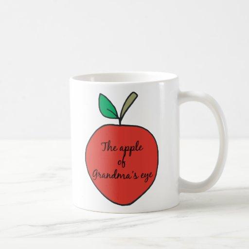 Apple del ojo de la abuela tazas de café