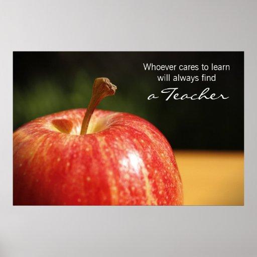 Apple del profesor imprime póster
