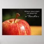 Apple del profesor imprime posters