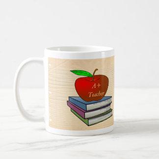 Apple del profesor personalizado taza básica blanca
