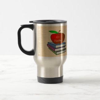 Apple del profesor personalizado taza de viaje