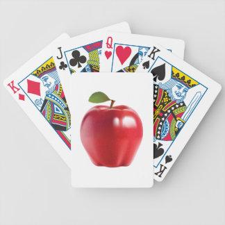 Apple delicioso jugoso rojo brillante barajas de cartas
