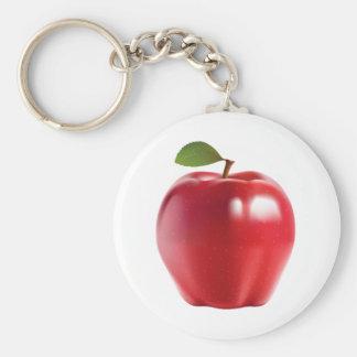 Apple delicioso jugoso rojo brillante llaveros