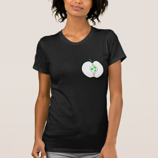 Apple Design in Green, Black and White. T-shirt