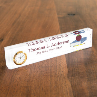 Apple Desk Nameplate