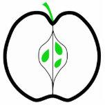 Apple diseña en el verde, blanco y negro. esculturas fotográficas