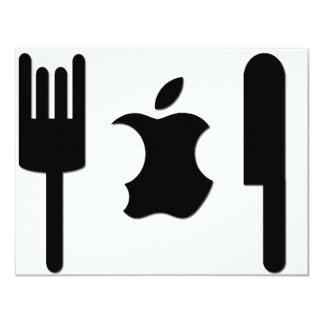"""Apple divertido invitación 4.25"""" x 5.5"""""""