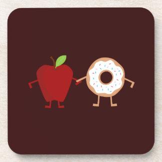 Apple Donut Beverage Coaster