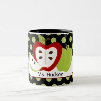 Apple Dots Personalized Teacher Mug