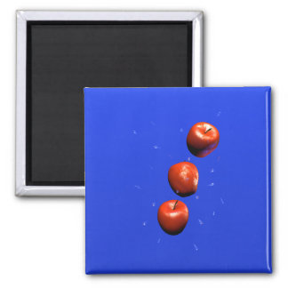 Apple Drops 2 Inch Square Magnet