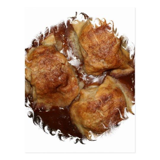 Apple Dumplings framed round Postcard