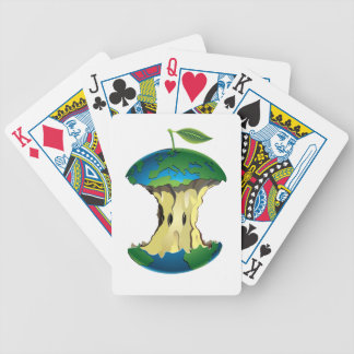 apple earth bicycle playing cards