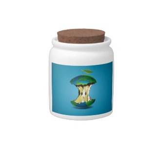 apple earth candy jar