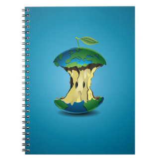 apple earth spiral note books