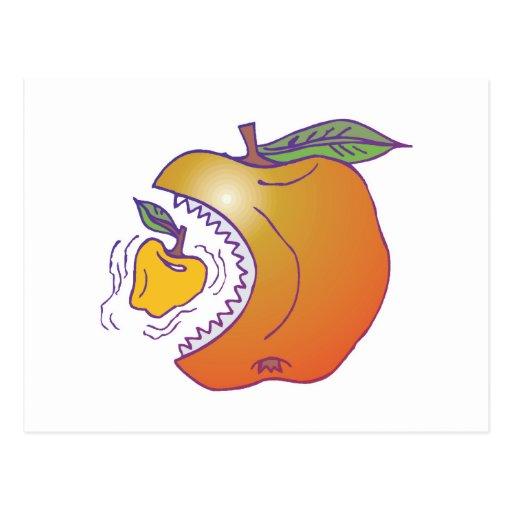 apple eat apple postcard