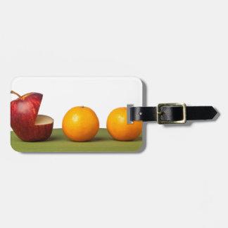 Apple eat orange bag tag