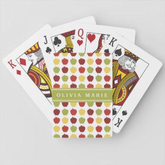 Apple elegante modela con nombre personalizado cartas de juego