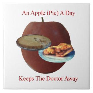 """Apple (empanada) un día 6"""" x 6"""" teja o Trivet"""