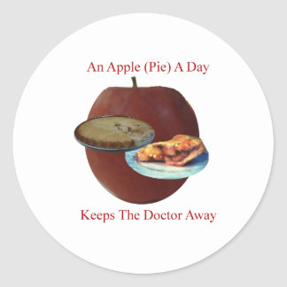 Apple empanada un día pegatinas redondas