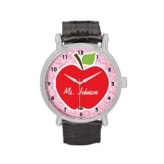Apple en el clavel pica el modelo del damasco reloj