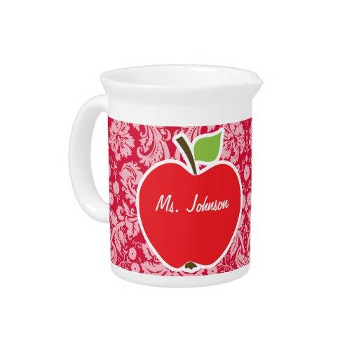 Apple en el damasco carmesí modela jarra para bebida