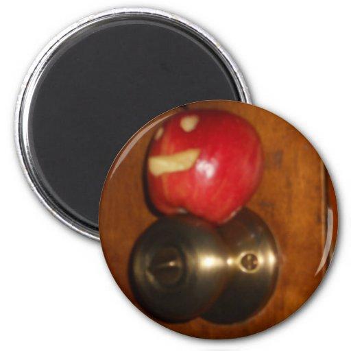Apple en el tirador imanes para frigoríficos