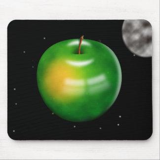 Apple en espacio alfombrilla de raton