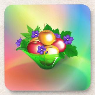 Apple en florero posavaso