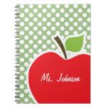 Apple en laurel pone verde lunares cuaderno