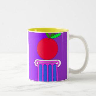 Apple en un pedestal taza de dos tonos