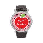Apple encendido se ruboriza Paisley rosada Reloj De Mano