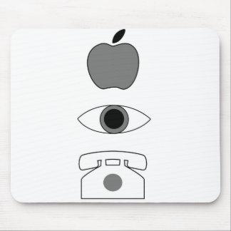 Apple Eye Phone Mouse Pad