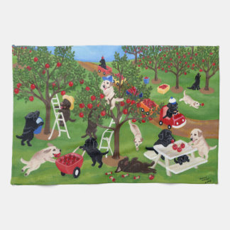 Apple Farm Labradors Painting Towel