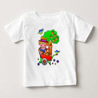 Apple Farmer Gathering His Apple Harvest Baby T-Shirt