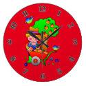 Apple Farmer Gathering His Apple Harvest Large Clock (<em>$33.45</em>)