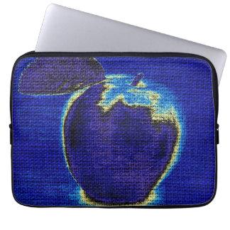 Apple Fine Art on Burlap Linen Jute #2 Laptop Computer Sleeve