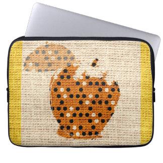 Apple Fine Art on Burlap Linen Jute Laptop Sleeve