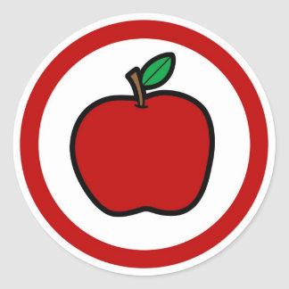Apple flavor sticker circle labels