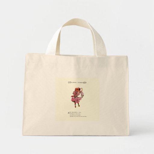 Apple florece bolsa tela pequeña
