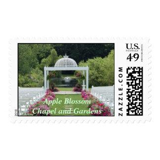Apple florece capilla y los jardines sello