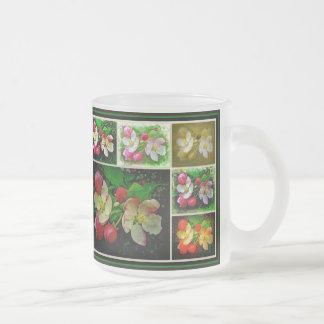 Apple florece collage - foto aumentada de taza de cristal